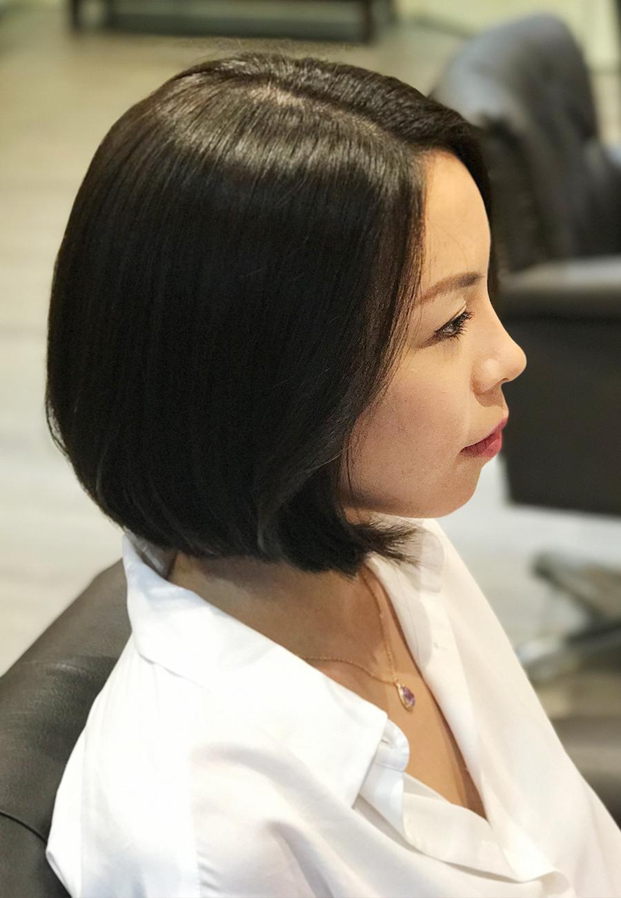 short hair cut + c-curl perm - the wiz korean hair salon, singapore